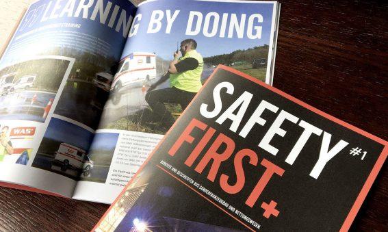 Safety First, das Kundenmagazin der Wietmarscher Ambulanz und Sonderfahrzeugs, WAS