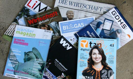 Sprachrohr für den Mittelstand: Fachzeitschriften in der Region.